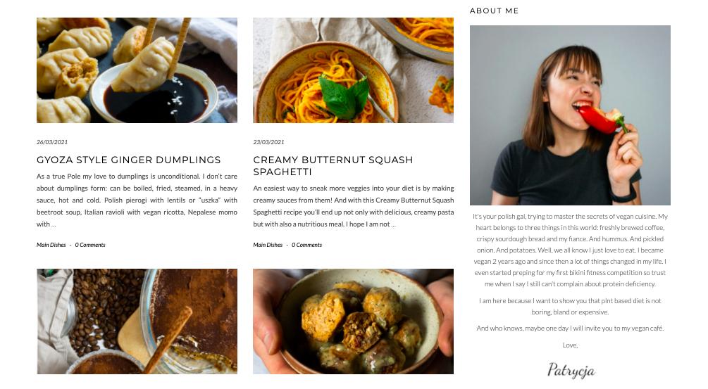 polish this veganism recipe website